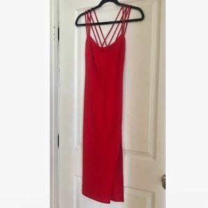 Strappy Red Midi Dress